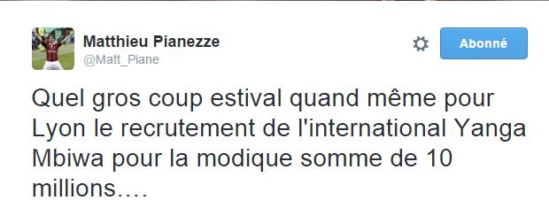 Tweet de Pianezze